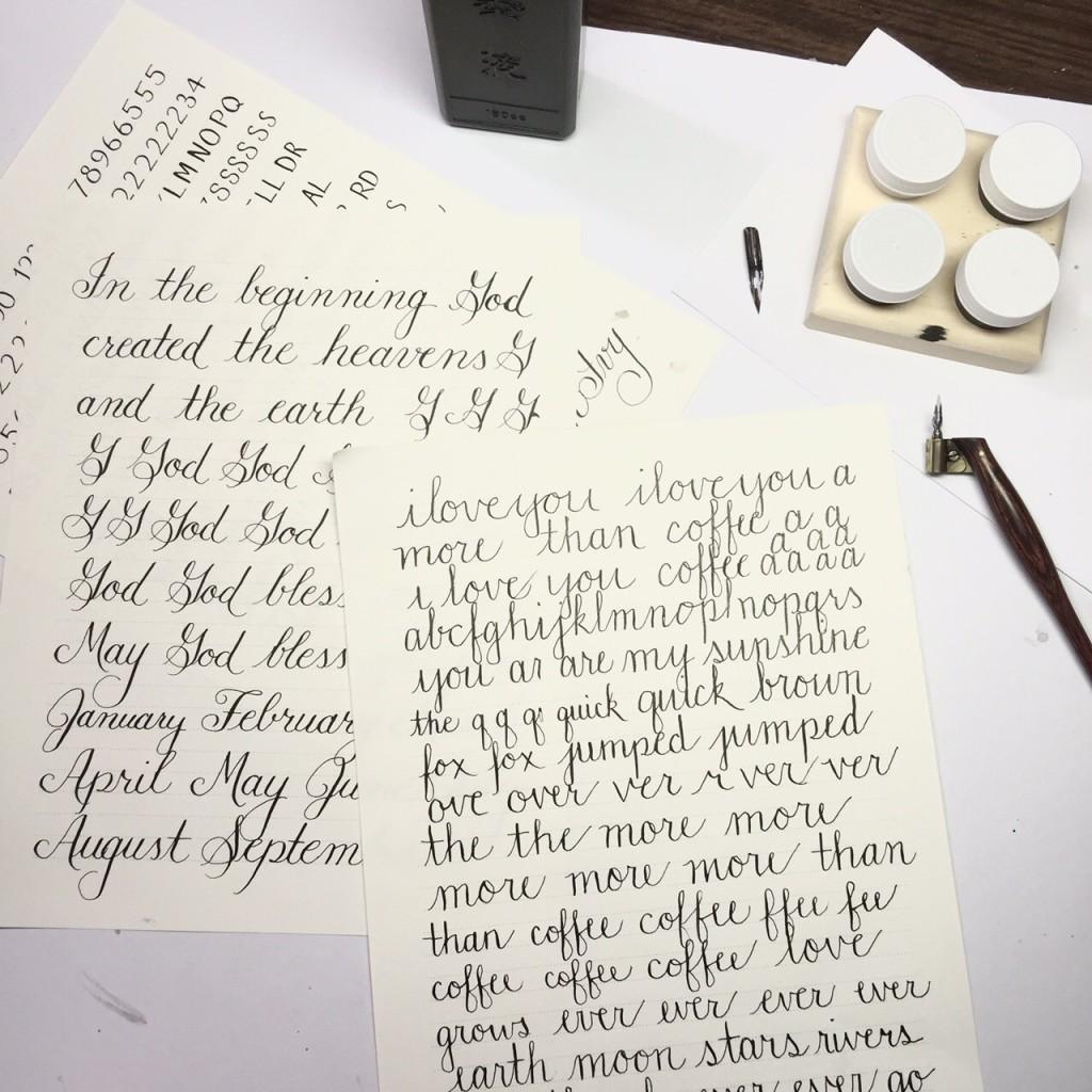 Beginning lettering